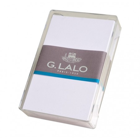 G.LALO 80 cartes bristol 320g 80x128mm boîte cristal Blanc