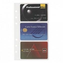 EXACOMPTA Recharge accessoire Exatime Pochettes cartes de visite 5 pochettes