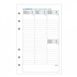EXACOMPTA Recharge Exatime 17 Civil semainier sur 2 pages 172x105 mm Sept à Décembre
