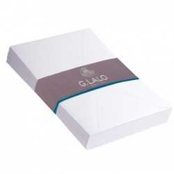 G.LALO 25 enveloppes 131x190mm Diploma gommées Blanc