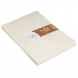 G.LALO 20 enveloppes paille naturelle C5 Ivoire