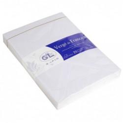G.LALO 25 enveloppes Vergé 162x229mm gommées doublées Blanc