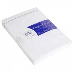 G.LALO 25 enveloppes Vergé 162x229mm gommées doublées Extra blanc