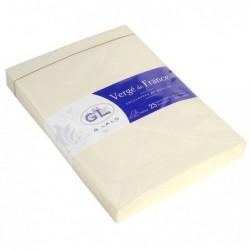 G.LALO 25 enveloppes Vergé doublées C6 gommées Ivoire
