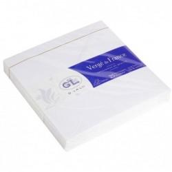 G.LALO 25 enveloppes Vergé doublées 140x140mm gommées Extra blanc