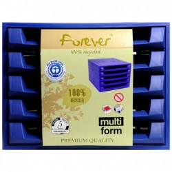 EXACOMPTA Bloc de classement THE BOX Forever 5 tiroirs ouvert Bleu cobalt