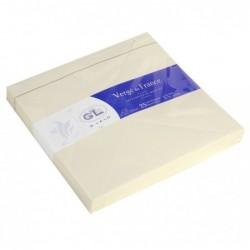 G.LALO 25 enveloppes doublées Vergé 165x165mm gommées Ivoire