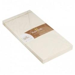 G.LALO 20 enveloppes 110x220mm paille gommées Ivoire