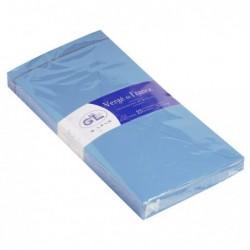 G.LALO paquet de 25 enveloppes doublées Vergé 110x220mm gommées Bleu