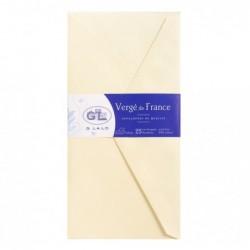 G.LALO paquet de 25 enveloppes doublées Vergé 110x220mm gommées Ivoire