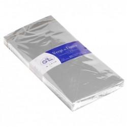 G.LALO Paquet de 25 enveloppes doublées Vergé 110x220mm gommées Gris souris