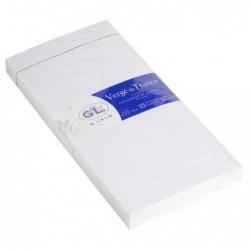 G.LALO paquet de 25 enveloppes doublées Vergé 110x220mm gommées Extra blanc