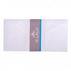 G.LALO 20 enveloppes DL doublées Vélin gommées Blanc