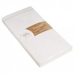 G.LALO Lot de 20 enveloppes doublées DL éclats d'or gommées ( pack ) Blanc