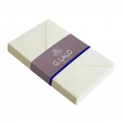 G.LALO 20 enveloppes doublées 90x140mm Vergé gommées ivoire