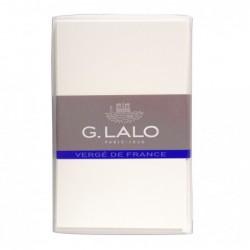 G.LALO 10 cartes et 10 enveloppes visite cv - Vergé ivoire Blanc