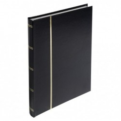 EXACOMPTA Album pour timbres 30,5X22,5 Simili cuir Noir 48p