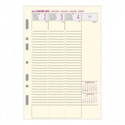 EXACOMPTA Recharge Exatime 21 ivoire sem/2 pages