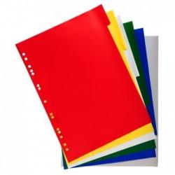 EXACOMPTA Intercalaires polypropylène souple 12x100e 6 positions A4 Colorés