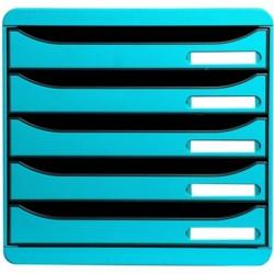 EXACOMPTA Bloc de classement BIG-BOX PLUS 5 Tiroirs Bleu turquoise