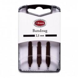 BRAUSE CALLIGRAPHIE Boîte 3 plumes Bandzug 2,5 mm