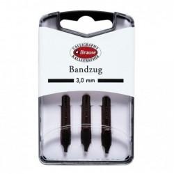 BRAUSE CALLIGRAPHIE Boîte 3 plumes Bandzug 3 mm