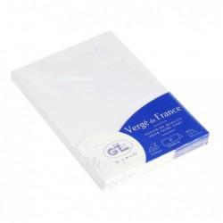 G.LALO Paquet de 25 chevalets 35x100mm Vergé 210g Blanc