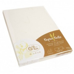 G.LALO Lot de 20 chevalets 35x100mm paille 200g Ivoire