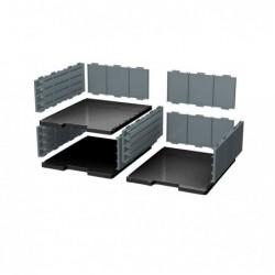 EXACOMPTA MODULODOC élément cases jumbo noir/gris