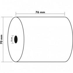 EXACOMPTA Lot de 10 Bobines 2 plis Autocopiant CBCF 57g 76x70x12 mm x 25 m