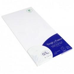 G.LALO paquet de 25 cartes 160x160 double vergé 210g Extra blanc