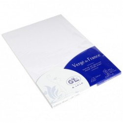 G.LALO Pack de 25 feuilles A4 rainé Vergé 210g Blanc