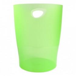 EXACOMPTA Corbeille à Papier ECOBIN Capacité de 15 litres H 33 cm Vert Pomme Transparent