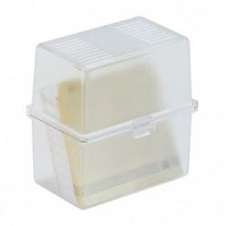 EXACOMPTA Boite à fiches MEMO-BOX A8 cristal