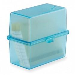 EXACOMPTA Bac à fiches MEMO-BOX A8 turquoise translucide