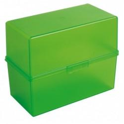 EXACOMPTA Boîte à fiche pour 200 fiches A6 Vert pomme Translucide