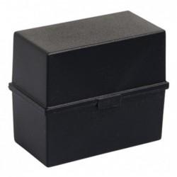 EXACOMPTA Boîte à Fiches Portable ECOBlack pour Env. 200 fiches A5 noir
