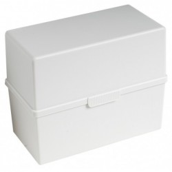 EXACOMPTA Boîte port. 200 fiches A5 gris lumière