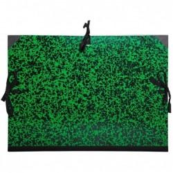 EXACOMPTA Carton à dessin Annonay avec 3 paires de cordons marbré vert 26x33cm