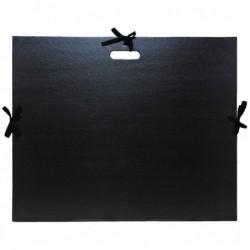 EXACOMPTA Carton à dessin kraft vernis avec rubans et poignée 59x72cm Noir