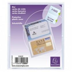 EXACOMPTA Sachet/10 Etuis pour carte crédit/visite