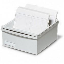 EXACOMPTA Boîte K 500 fiches A7 gris lumière