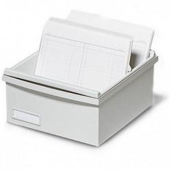 EXACOMPTA Boîte K 500 fiches A6 gris lumière