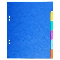 EXACOMPTA Intercalaires carte 180g Forever 6 positions format écolier 17x22cm