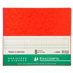 EXACOMPTA Piqure 27x32 cm 8 Colonnes 80 pages
