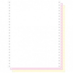 "EXACOMPTA Carton de 1000 Listing 240X12"" 3 PLIS Blanc/rose/jaune BCD Autocopiant"
