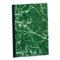 EXACOMPTA Carton à dessin papier marbré verni avec élastiques 37x52 1/2 raisin