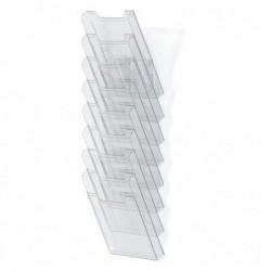 EXACOMPTA Trieur A4 vertical monté 8 cases Cristal