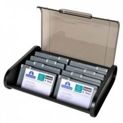 EXACOMPTA Fichier cartes visite ECOBlack noir/gris souris