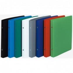 EXACOMPTA Classeur format écolier 17x22 2 Anneaux 15mm PP opaque 230x200 Coloris Aléatoire